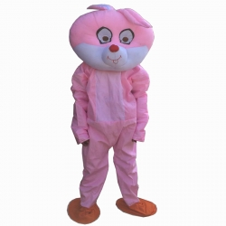 Cartoon Costume - Adult Mascot Mascot - Party Mascot - Made of High Quality Plush Material - Pack Of 1 - Pink color