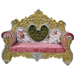 Rajasthan Royal Design Sofa - Wedding Reception Sofa - Made of wood and metal - Multi-Color