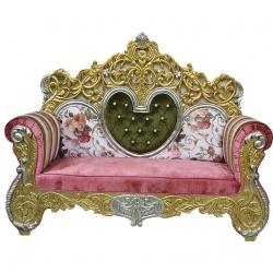 Multi Color - Udaipur - Rajasthani - Jaipuri - Heavy - Premium - Couches - Sofa - Wedding Sofa - Maharaja Sofa - Wedding Couches - Made of Wooden & Metal
