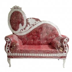 Maroon Color - Regular - Couches - Sofa - Wedding Sofa - Maharaja Sofa - Wedding Couches - Made Of Wooden & Metal
