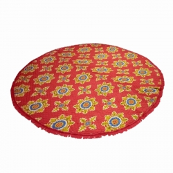 10 FT X 10 FT Multi color Galicha - Printed Galicha - Carpet - Floor Mat - Mat - Made of Cotton Material - Weight (35 Kg)