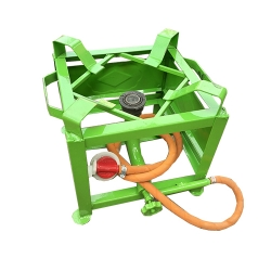 Heavy 11X11 Gas Stove - Gas Bhatti - Canteen Medium Burner With Regulator And Pipe - Iron Body.