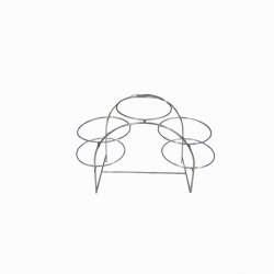 Salad Stand - Made Of Stainless Steel With 5 Ring shaped Racks (three-tier)