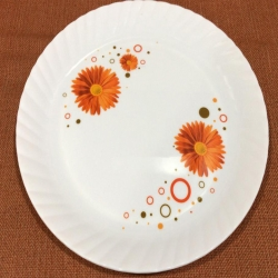 12 Inches Dinner Plates with Printed design - Made of Food Grade Virgin Plastic - Printed