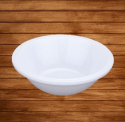 4 Inch - Soup - Curry Bowls Made Of Food-Grade Virgin Plastic - White Color