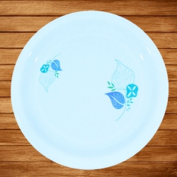 12 Inches Dinner Plates - Made Of Food-Grade Virgin Plastic Material - Round Shape - White Printed Plate