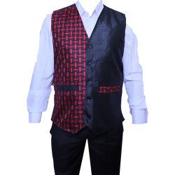Waiter - Bearer - Bartender Coat Or Vest - Kitchen Uniform Or Apparel For Men - Full-Neckline - Sleeve-less - Made Of Premium Quality Polyester & Cotton (Available size 38 , 40 , 42 , 44 , 46 , 48)