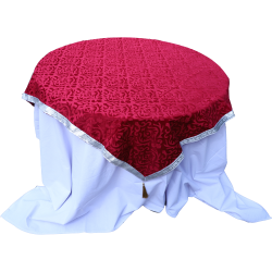 Designer Table Cloth / Table Cover For Round Table; Made Of Premium Quality Color Maroon.