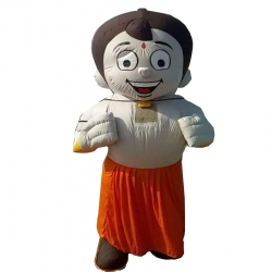 Chota Bheem Character Air Inflatable Indoor &  Outdoor Walking / Made Of PVC Vinyl With 12V 7.5ah Battery - Single piece