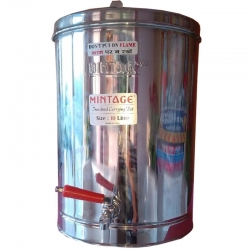 10 Ltr - Tea Container With Side Handel - Made of Stainless Steel