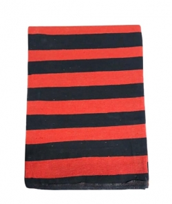 8 FT x 10 FT Premium / Heavy / Acralyic Cotton Floor / Dari / Dhurrie / Rug / Satranji 2.2 KG Quality ; Red & Black Color