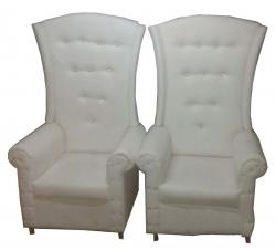 Traditional Design Varmala Sofa - Single Seat Sofa - Pair Of 1 (2 Pieces) White Color