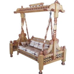 Wooden Swing - Sankheda Jhula - Made premium qaulity wood - Multi Color