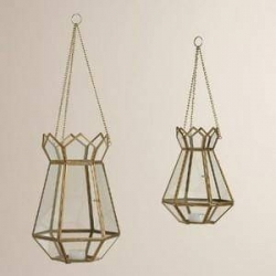 16 Inch - Hanging Lanterns - Decorative Lanterns  - Khandil - Made of Iron.