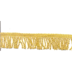 3 inch Val jhalar - Viscose - 25 Meter - Curtain Lace - Decorative Laces - Sajavt Lace - Embroidery Lace - Golden Color .