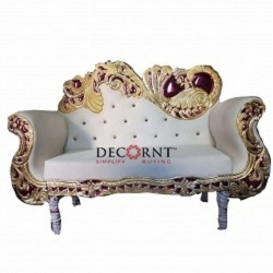 White Color - Regular - Couches - Sofa - Wedding Sofa - Maharaja Sofa - Wedding Couches - Made of Metal