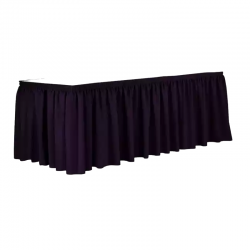 1.5 FT X 6 FT - Table Cover Frill - Made Of Premium Quality - Black Color