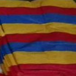 16 FT X 32 FT - 6 Gauge - 4 KG - Virgin Quality - Shaded Agro Net / Mandap Flooring - Red/Blue/Yellow Color .