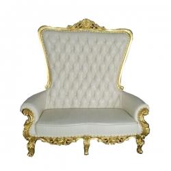 Saharanpur Wedding Reception Sofa - Royal Design Sofa - Made Of Wood And Metal - White Color