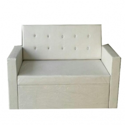 Saharanpur 2 Seater Sofa - Made of Leather & Fome - Off white color