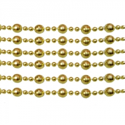 8 mm Merry Golden  Beads / Moti / Lace