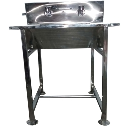 Hand Wash Basin - Two Taps Hand Wash Sink - Outdoor Catering Accessories - Made Of High Quality Steel