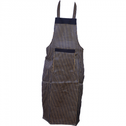 Cotton Kitchen Apron with Front Pocket - Black Color