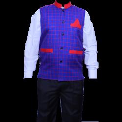 Waiter - Bearer - Bartender Coat Or Vest - Kitchen Uniform Or Apparel For Men - Full-Neckline - Full Sleave - Made Of Premium Quality Polyester & Cotton (Available size 38 , 40 , 42 , 44 , 46 , 48)