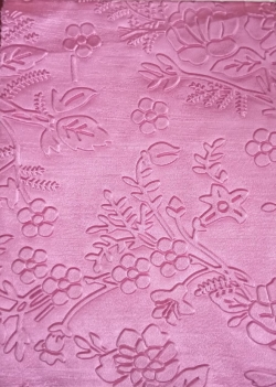 Heavy Emboss / Meena Kari Work / Warp Nitting 3D Punching Work Cloth On 24 Gauge Brite Lycra / 54 Inch Panna Light Pink Color .