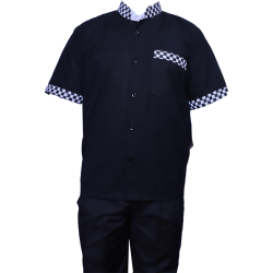 Kitchen Uniform - Chef Coat - Chef Vest - Unisex Chef Uniform - Kitchen Apparel - Half Sleeves - Made Of Premium Quality Cotton - (Available size 38 , 40 , 42 , 44 , 46 , 48)