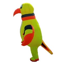 Parrot Character Air Inflatable Indoor & Outdoor Walking / Made Of PVC Vinyl With 12V 7.5ah Battery - Single piece