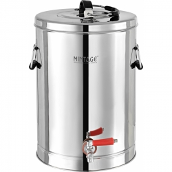 15 Ltr - Tea Container With Side Handel - Made of Stainless Steel