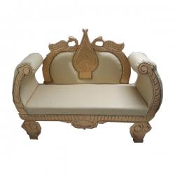Saharanpur Design Sofa - Wedding Reception Sofa - Made Of Wood - Cream Color .