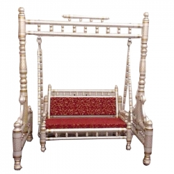 Wooden Swing - Sankheda Jhula - Made premium qaulity wood - Silver Color