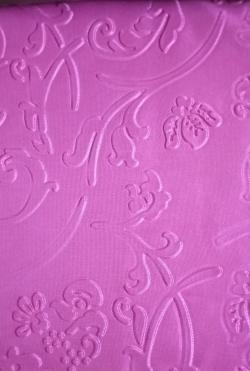 Heavy Emboss / Meena Kari Work On Warp Nitting Crush Cloth / 48 Inch Panna/ 5 Meter Quality / Pink  Color .