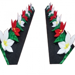 Inflatable Flower Rows - Party Attraction Items - Made Of PVC Vinyl - Multi Color - With Motor Pair of 1 ( 2 pieces)