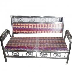 Maroon Color - Royal Steel Sofa - 3 Seater Sofa - VIP Sofa - Wedding Steel Sofa - 3 Seater Steel Sofa -Mad of Stainless Steel