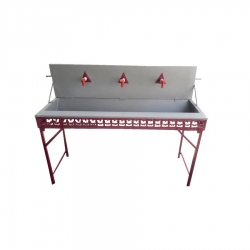 Three Taps Folding Hand Wash Basin - Hand Wash Sink - Outdoor Catering Accessories - Made Of High Quality Iron Body