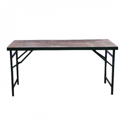 4 FT X 2 FT - Rectangular Table - Made Of Wood (Babul Falli) & Iron - Weight 24 KG