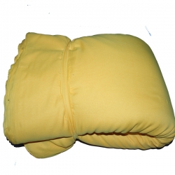 6 Meter Chandni / 62 Inch Panna / Yellow Color / Heavy Cloth.