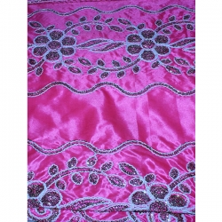 Designer Brite Lycra / Embroidery Work / Panna 52'' +  /  Fine Fabric Heavy Quality Cloth Material / Hand Made Work