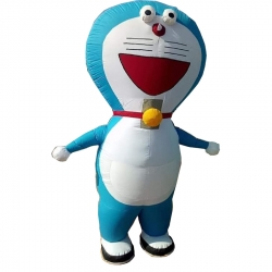 Doraemon Character Air Inflatable Indoor & Outdoor Walking / Made Of PVC Vinyl With 12V 7.5ah Battery - Single piece