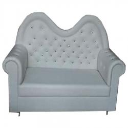 Wedding Reception Sofa - VIP Sofa - Made of Wood & Velvet - White Color.