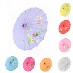 21 Inch & 32 Inch Diameter - Chinese Umbrella - Japanese Umbrella - Hanging Umbrella ( Wooden frame umbrella )
