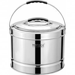 5 ltr - Hot Pot with Upper Handle - Made of Stainless Steel