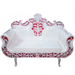 White Color - Regular Couches - Sofa - Wedding Sofa - Maharaja Sofa - Wedding Couches - Made of Wooden & Metal