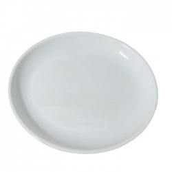 Big Rice Plates - Made Of Food-Grade Virgin Plastic Material - White Color
