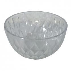 8 Inch - Poly Carbonate - Serving Bowl -  Decorative Bowl - Transparent Bowl