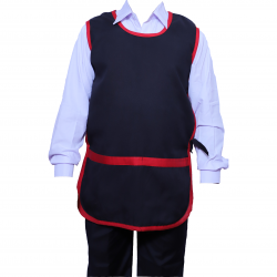 Suiting terry cotton Heavy fabric Kitchen Apron Black Color .