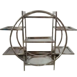 Seven Tier Ring Salad Stand - Made of Stainless Steel.